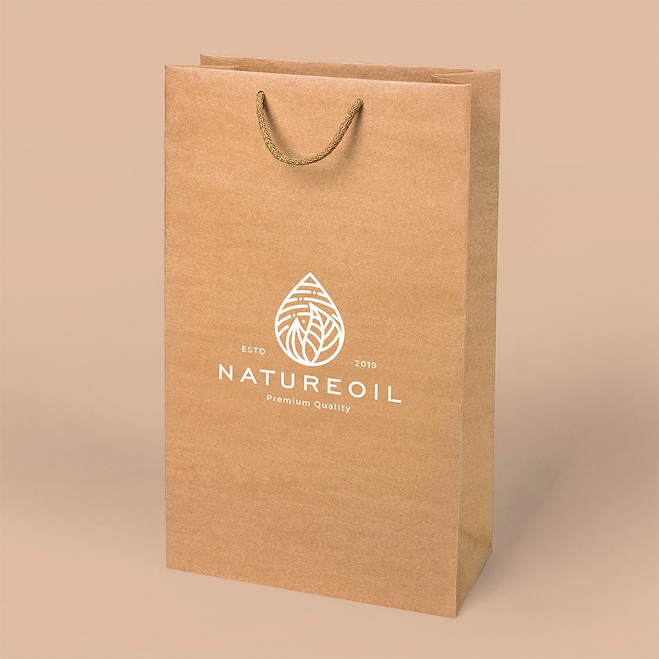 torby reklamowe ekologiczne z białym nadrukiem