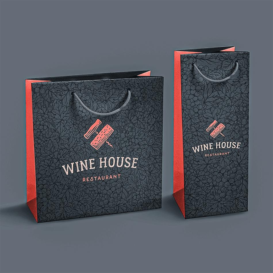 torby reklamowe z nadrukiem kwadratowe i na wino