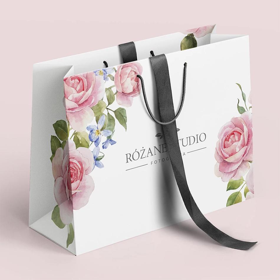 torby reklamowe z nadrukiem kwiaty